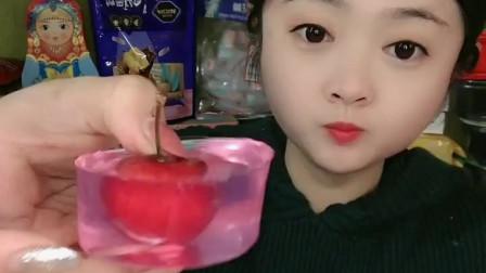 萌姐美食:自制樱桃果冻,大口吃, 好吃又好看