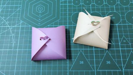 90秒折个漂亮礼物盒,一剪一折,简单两步就做好了,手工折纸视频