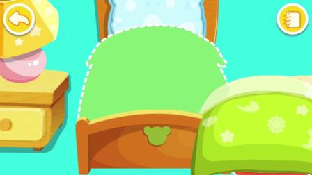房间里的东西太乱了 奇奇能不能把房间收拾好呢?宝宝巴士游戏