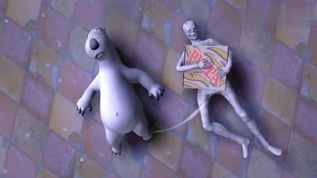 倒霉熊:贝肯想从木乃伊手中拿回披萨,最后以失败告终