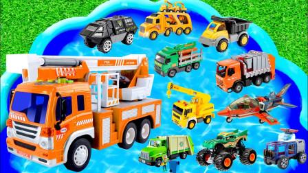 玩具汽车总动员,消防车、挖掘机、校车,小朋友喜欢的都在这里