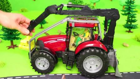 汽车玩具总动员,消防车、挖掘机、伐木机,小朋友最喜欢哪一个?