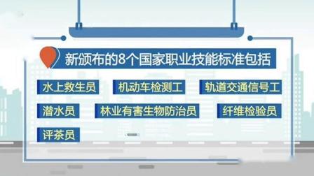 新闻30分 2020 五部门联合新颁布8个国家职业技能标准