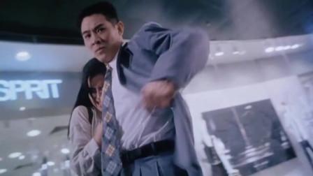 中南海保镖:李连杰英雄救美,枪法精准眼神犀利女神瞬间心动了