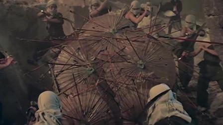 武打片:王爷让徒弟用轮椅推他回京 一路上埋伏 真是惊险