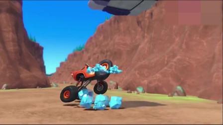 益智动画:飚速用跳跃程序躲开小蓝的风暴云,用飙风速度拿回宝石