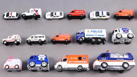 城市救护车模型玩具展示