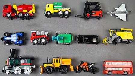 工程车巴士摩托模型玩具