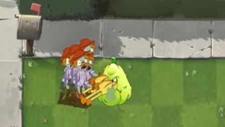 植物大战僵尸:坚果窝瓜菜问拳击手大战小鬼僵尸巨人僵尸