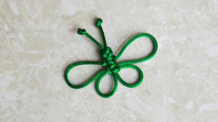 漂亮的小蝴蝶,简单易学,详细的编绳教程