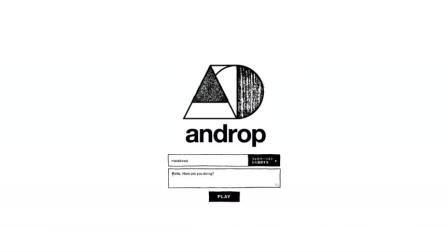 日本乐队Androp互动创意
