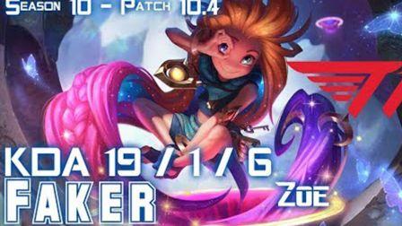 T1 Faker ZOE vs AZIR Mid  Patch 104 KR Ranked