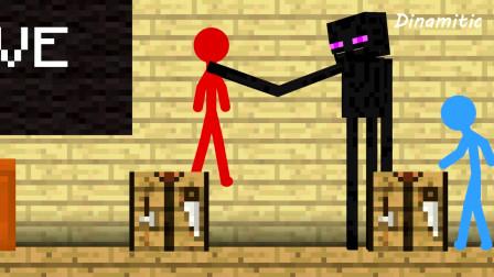 我的世界动画-火柴人学院 vs 怪物学院-Dinamitic