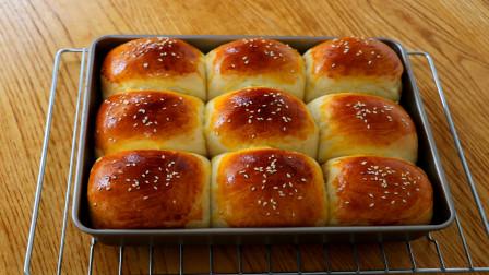 牛奶面包做法:基础配方,新手也能一次成功,松软拉丝,简单美味