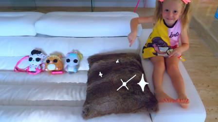 小萝莉和洋娃娃捉迷藏,可是怎么找都找不到,洋娃娃都躲哪了呢?