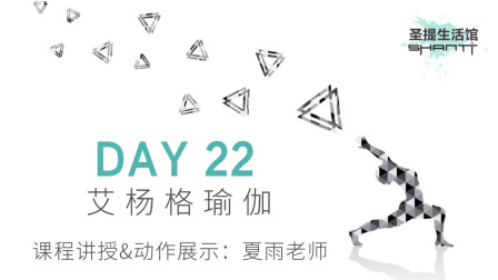 30天瑜伽练习 DAY 22:艾扬格瑜伽——夏雨老师