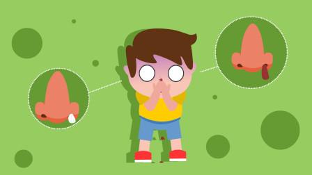 同学们,鼻子出血不要紧张,这几个步骤可以快速止血