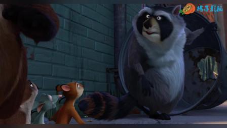 松鼠舍利破坏了浣熊的阴谋,拯救了大家,它是一个英雄