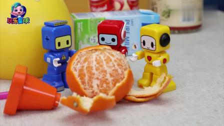 百变布鲁可:布布用攻城车打橘子!看起来很酷!