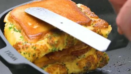 创意美食:自制三明治新吃法,回味无穷,这才是养生早餐啊