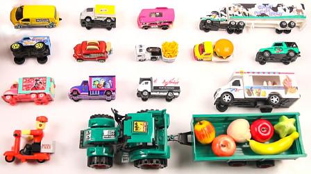 炫彩餐饮车与水果拖车玩具