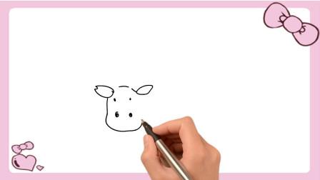 儿童简笔画学习 第一季 怎么画奶牛