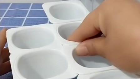 原来喝完的酸奶盒还可以这样用,摇身一变,就成了可以收纳袜子的容器!