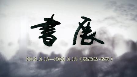 安徽省合肥市(张雪松)书写作品【视频合成张仁科】