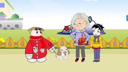 草帽肥肥:肥肥牵狗遛弯,却遇到奶奶胡搅蛮缠,不过结局太搞笑了