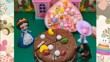 贝尔公主生日到了巧克力蛋糕,白雪公主的礼物是什么呢?