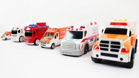 救护汽车模型玩具展示