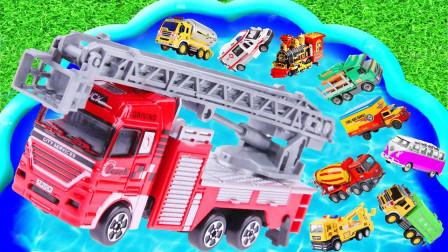汽车总动员,酷酷的消防车、警车、大卡车,你最喜欢哪一个?