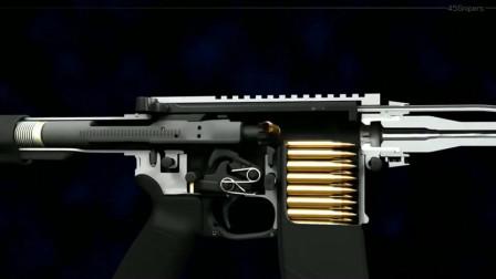 半自动步枪是如何开火的?这个3D动画完美诠释,看得带劲