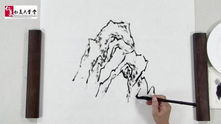 国画教程:山水画中的意象表现之树与山石的画法