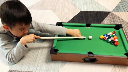 迷你台球玩具亲子互动游戏桌球比赛