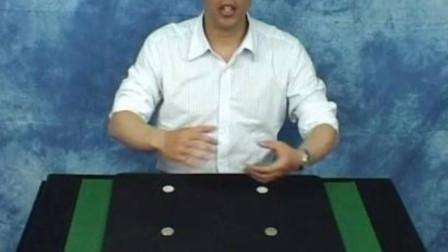 刘谦最经典四币归一魔术,很多人想学,今天教你!