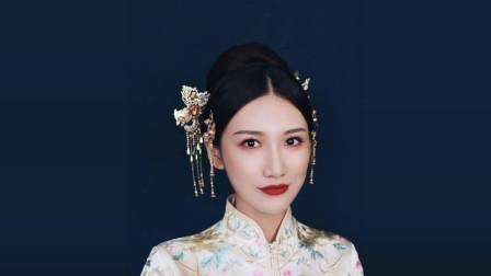 济南化妆学校,中式金色造型教程