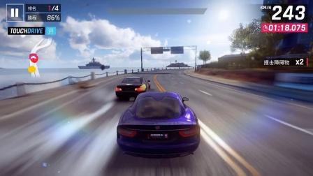 《狂野飙车9》今天又手柄来操作一下狂野旋转9更新送的超级 跑车 道奇VIPER GTS