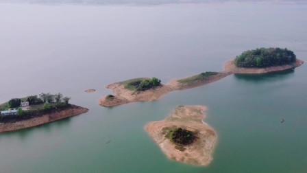 航拍,广西桂林,灵川县青狮潭旅游度假区