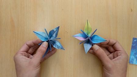 手工折纸,花的又一种折法,简简单单就是这么好看