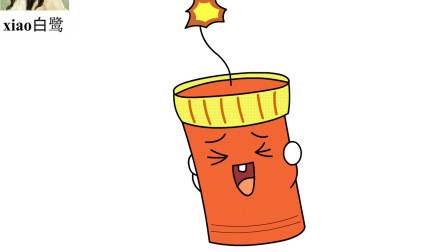 【xiao白鹭】新年简笔画 鞭炮儿童卡通简笔画 一分钟简笔画 小学生简笔画 儿童蜡笔画水彩画
