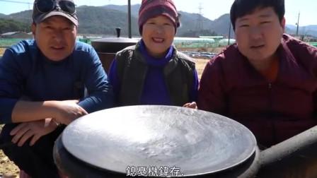 中字:韩国兴森一家人,吃烤肉,用蔬菜包着大口吃得太过瘾了