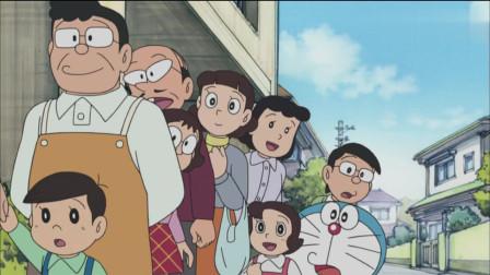 哆啦A梦买菠萝面包给哆啦美当礼物,排队排了半天也没买到