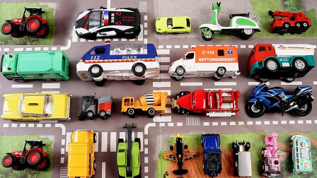 街道汽车迷你玩具珍藏展示
