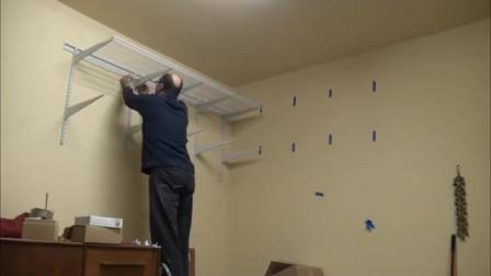 牛人创意:安装墙面挂条置物架,不占地方高度可调