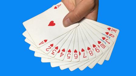 无论观众把牌洗得再乱,我都能瞬间抽出一条龙!学会骗朋友玩