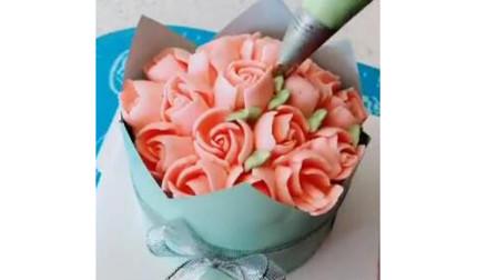 送一款最近流行的花束蛋糕给爱人,给媳妇,给女朋友,给亲人!