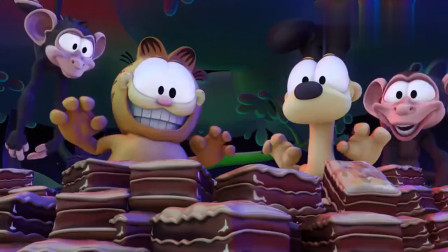 加菲猫:老姜担心加菲猫吃野果和树皮,却不知它正在开派对呢