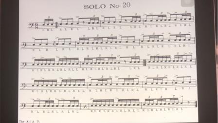 美国军鼓150条 solo No.20(示范)