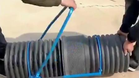 波纹管紧线器,这样的高科技好实用,工人一点也不费力气!